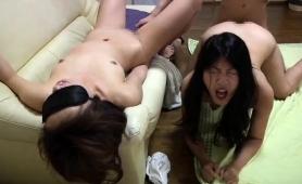 Asian Cuties Explore Their Lesbian Needs And Enjoy Hard Meat