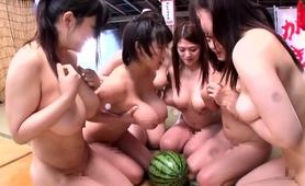 Bodacious Japanese Girls Take Turns Enjoying Some Hard Meat