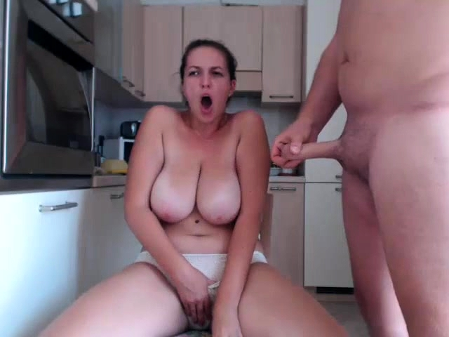 Natural Big Tits Riding Dildo