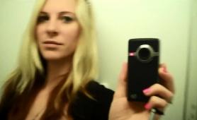 Sensual Blonde Milf Makes Herself Cum In The Dressing Room