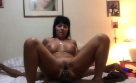 Voluptuous Mature Wife Takes A Big Black Shaft Up Her Ass