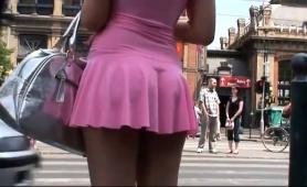 voyeur-follows-an-elegant-brunette-teen-in-a-sexy-pink-dress