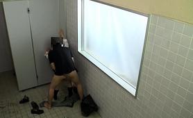 Adorable Oriental Teen Enjoys A Hardcore Threesome Outside