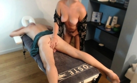 Big Breasted Amateur Milf Massages A Cock With Her Sexy Lips