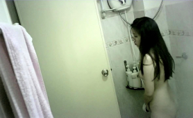 Voyeur Spying On A Beautiful Japanese Girl In The Shower