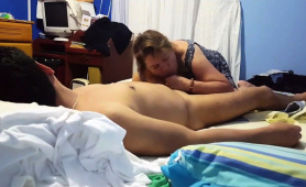 Slutty Momma Sucks Cock And Gets Pussy Hammered From Behind