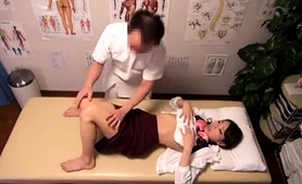 Pretty Asian Teen Enjoys A Good Fucking On The Massage Table